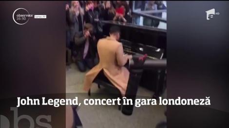 John Legend, concert în gara londoneză