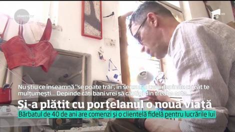 Un artist din Ploieşti s-a reprofilat. Creează figurine din porțelan
