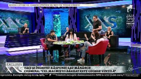 """Cosmina Păsărin, la proba """"Taci şi înghite!"""": """"Cel mai mișto bărbat este George Vintilă"""""""