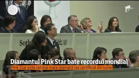 """Faimosul diamant """"Pink Star"""", a fost vândut cu 71,2 de milioane de dolari, la Hong Kong"""