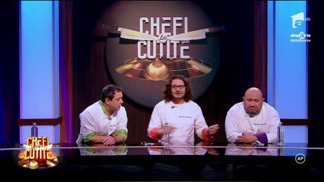 """Chef Scărlătescu, motiv de glume pentru colegii de jurizare: """"Cel mai bun bucătar român în viață este în doliu total. Gata, ai depus armele?!"""""""