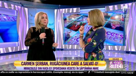 Carmen Şerban, despre încercările vieții! Cum s-a vindecat de tumora la sân. Rugăciunea care o ajută întotdeauna