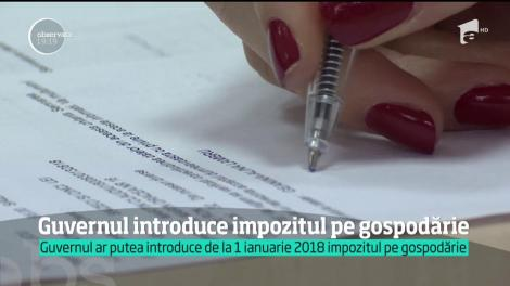 Guvernul ar putea introduce de la 1 ianuarie 2018 impozitul pe gospodărie