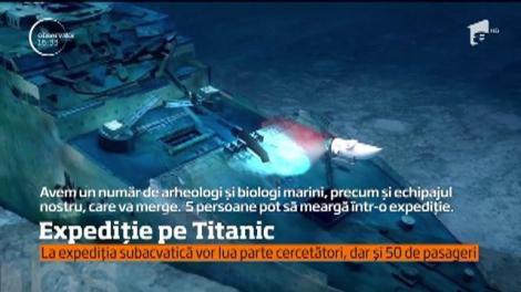 Expediție inedită pe Titanic pentru doritori. 50 de persoane vor avea avea ocazia să viziteze celebra epava. Nimeni nu a avut acces, până acum, în afara cercetătorilor