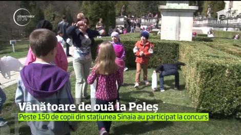 Grădinile Castelului Peleş din staţiunea Sinaia au fost invadate de sute de copii care au participat la concursul anual din preajma sărbătorilor