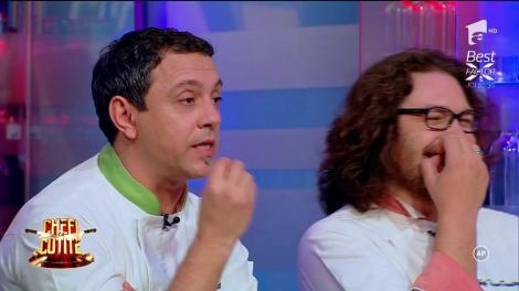 """Preparatele propriilor concurenți i-au adus în pragul disperării pe Scărlătescu și Bontea: """"Orice femeie de serviciu ştie să facă o porţie de paste mai bine ca voi"""""""