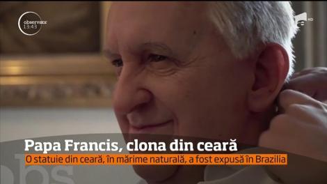 Papa Francis a fost imortalizat în ceară, atât de fidel, încât imaginile următoare le-au dat fiori credincioşilor din Brazilia
