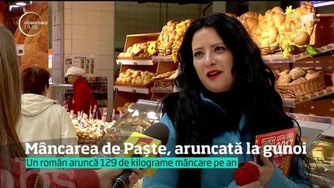 Masa de Paşte a ajuns la gunoi! Un român aruncă de sărbători, în medie, 16 kilograme de mâncare