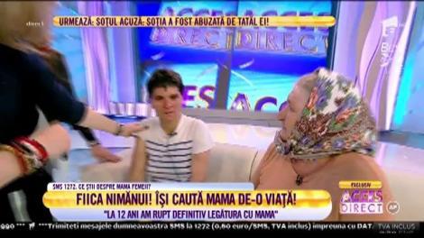 """Maria, fata nimănui, a leşinat în direct la """"Acces Direct"""", când şi-a revăzut mama după 33 de ani!"""