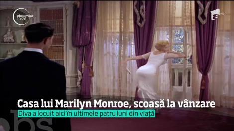 Casa lui Marilyn Monroe, scoasă la vânzare