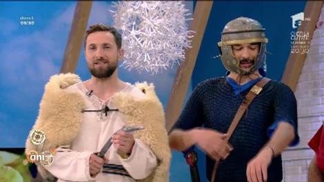 """Platoul de la Neatza, transformat în câmp de bătălie! Dacul Dani Oţil şi Centurionul Răzvan Simion s-au luptat, în direct: """"Ia, zi, picioare goale, când ne faci un dans?"""""""