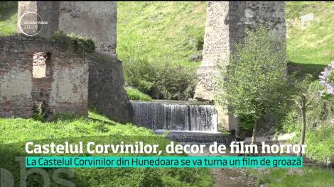 Castelul Corvinilor, decor de film horror