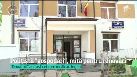 Doi agenți dintr-o comună ieșeană au pretins mită pentru renovarea sediului postului de poliție