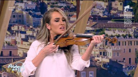 """Strigă după ajutor! Diana cântă la vioară, Ristei la acordeon. """"Scăpați-mă de momentul ăsta! Vreau publicitate!"""""""