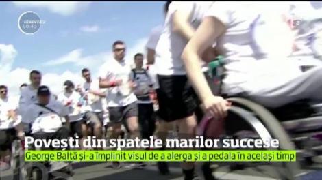 Povești din spatele marilor succese! George Baltă, maratonistul din scaunul cu rotile, și-a împlinit visul de a alerga și a pedala în același timp