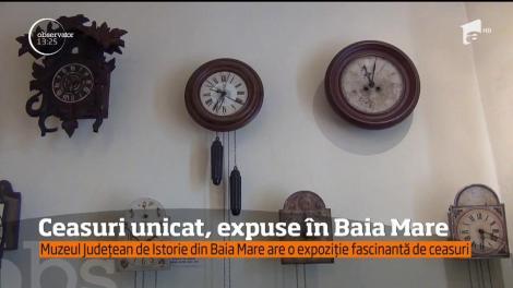 Ceasuri unicat, expuse la Muzeul Judeţean de Istorie din Baia Mare