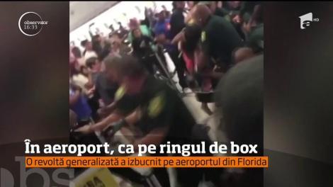 O revoltă generalizată a izbugnit pe aeroportul din Florida! Zeci de pasageri au vrut să se răzbune pe angajaţi după ce cursa lor a fost anulată
