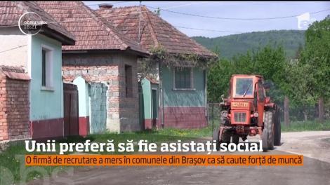 Reprezentanţii unei firme de recrutare caută forță de muncă în comuna Apaţa din Braşov, dar localnicii nu sunt interesați să muncească