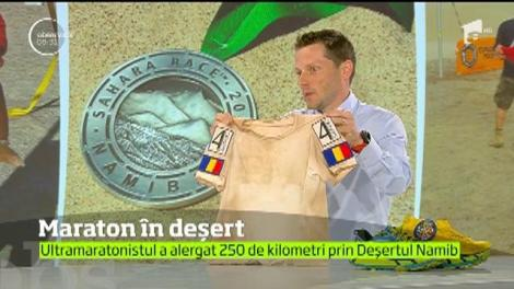 Ultramaratonistul Andrei Gligor a alergat 250 de kilometri prin Deşertul Namib