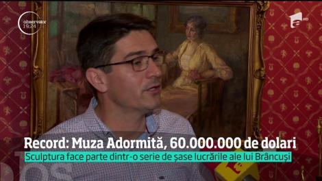 """""""Muza Adormită"""" a lui Constantin Brâncuşi a fost vândută cu 57 de milioane de dolari"""