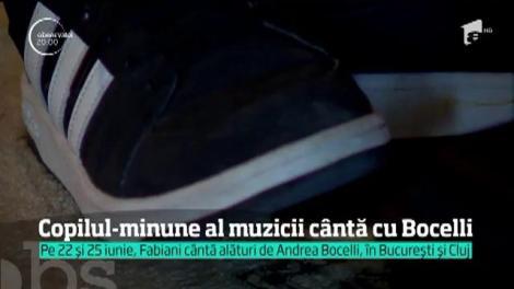 Fabiani, un adolescent orfan din România, l-a cucerit pe Andrea Bocelli! Va cânta la pian, alături de tenorul italian, pe aceeași scenă