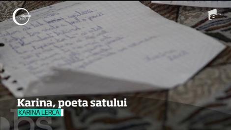 Karina, poeta satului. O copilă dintr-o comună din Botoşani a scos primul său volum de versuri, la nici 12 ani