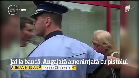 Jaf la o bancă din București. Angajata a fost amenințată cu pistolul