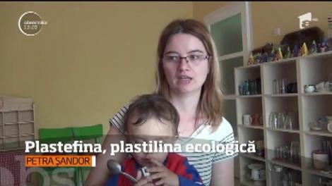 Pentru că mamele se gândesc mereu la binele copiilor lor, o tânără din Baia Mare a creat plastefina