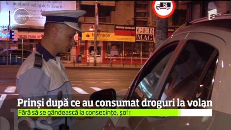 Poliţiştii au aplicat zeci de amenzi şi au întocmt 8 dosare penale, pe străzile din Bucureşti. Șoferii au fost prinși după ce au consumat droguri la volan