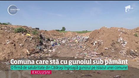 O firmă de salubritate din Călărași îngroapă gunoiul pe islazul unei comune ca să scoată bani