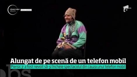 Florin Piersic Jr a părăsit scena teatrului în timpul unui spectacol, din cauza unui telefon mobil