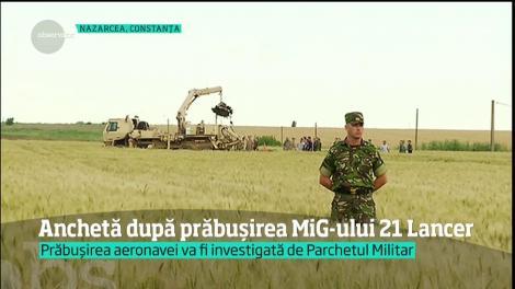 Anchetă după prăbuşirea MiG-ului 21 Lancer