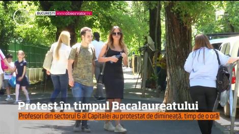 În plin examen de bacalaureat, peste o mie de profesori din sectorul 6 al Capitalei au fost în grevă