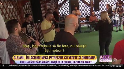 Giani Kiriță cu perucă blondă și voal de mireasă pe cap