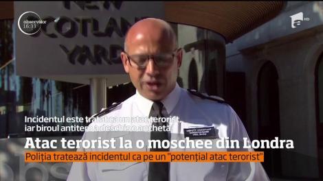 Atac terorist la o moschee din Londra! Un om a murit, iar alții au fost răniți de o mașină care a intrat pe trotuar