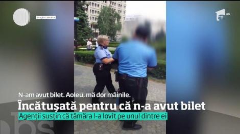 O tânără din Ploiești a fost încătușată pentru că nu avea bilet de autobuz