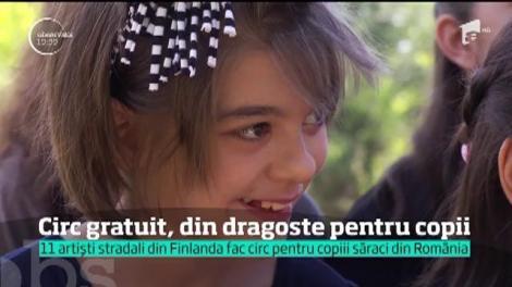 11 artişti stradali din Finlanda, circ gratuit, din dragostre pentru copii din România