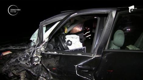 Accident frontal pe drumul naţional ce leagă Dejul de Baia Mare. Șapte oameni au fost răniţi