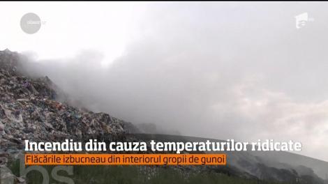 Incendiu la o groapă de gunoi de lângă Drobeta-Turnu Severin