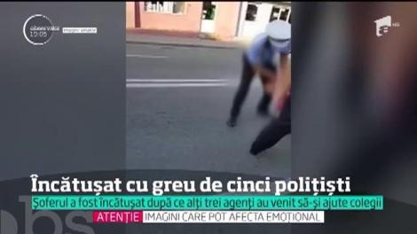 După cazul Boureanu, încă o întâmplare demonstrează lipsa de proceduri. Șofer de TIR, încătușat cu greu de cinci polițiști