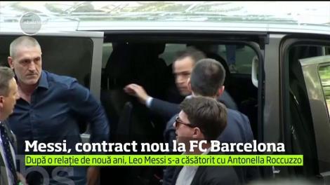Leo Messi şi-a prelungit contractul cu FC Barcelona până în iunie 2021