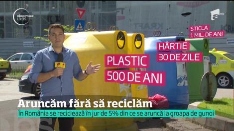 Ne aruncăm gunoaiele pe câmp. Iar pentru reciclare, n-avem răbdare. N-avem nici legi clare. Prin urmare, am putea primi amenzi de la Uniunea Europeană