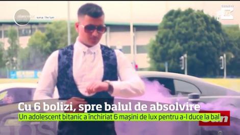 FIŢĂ ABSOLUTĂ! Un adolescent a închiriat șase mașini de lux pentru a-l duce la bal ca pe un star hip-hop
