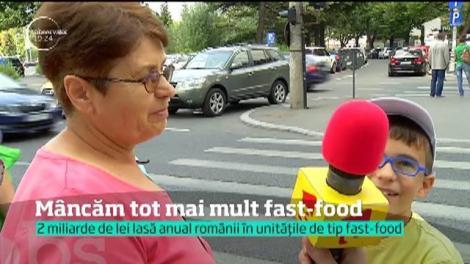 Românii mănâncă tot mai mult fast-food. Sutem pe locul trei în Europa la numărul de copii obezi