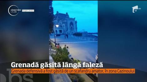 A fost panică pe faleza din Constanţa! Un scafandru amator a descoperit o grenadă în apa mării