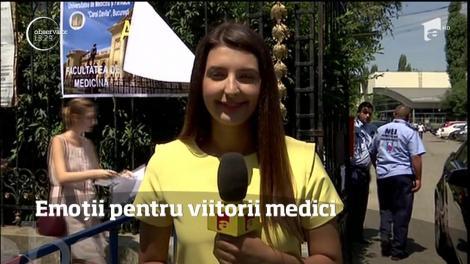 Emoţii mari pentru mii de tineri din România, care au dat examen la Medicină şi Farmacie, la facultăţile de stat