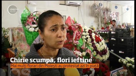Protest la Ploiești! Mai mulți florari sunt la cuțite cu conducerea societăţii care administrează platoul unde ei îşi desfăşoară activitatea