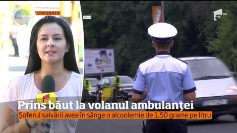 Șofer prins băut la volanul ambulanței