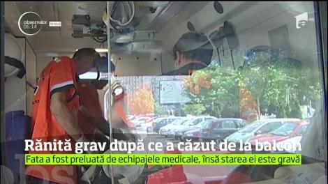 Caz complicat în Baia Mare. O tânără de 22 de ani este în stare gravă la spital după ce a căzut în gol de la etajul doi