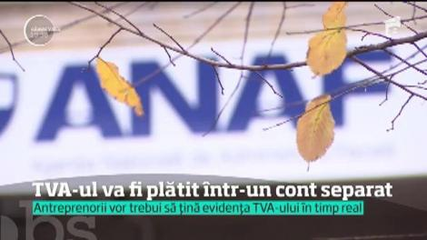 Firmele din România vor trebui să plătească TVA-ul într-un cont separat